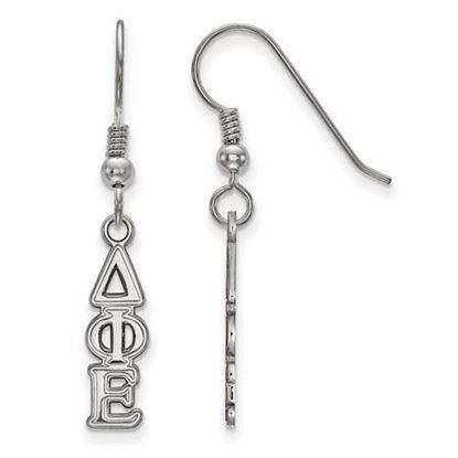 Picture of Delta Phi Epsilon Sorority Sterling Silver Dangle Earrings