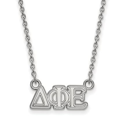 Picture of Delta Phi Epsilon Sorority Sterling Silver Extra Small Pendant Necklace