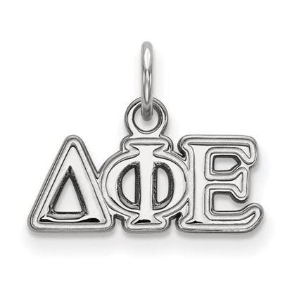 Picture of Delta Phi Epsilon Sorority Sterling Silver Extra Small Pendant