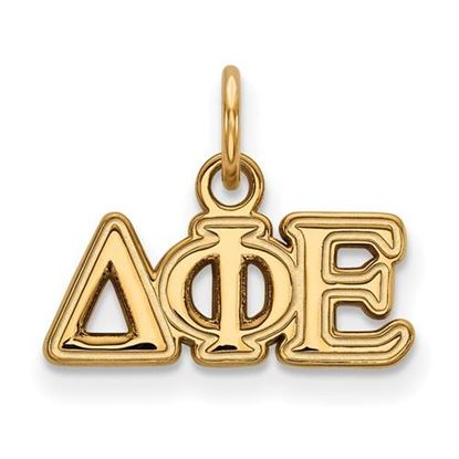 Picture of Delta Phi Epsilon Sorority Sterling Silver Gold Plated Extra Small Pendant