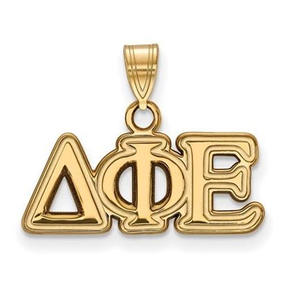 Picture of Delta Phi Epsilon Sorority Sterling Silver Gold Plated Small Pendant