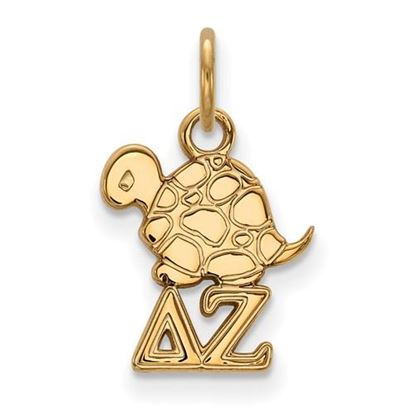 Picture of Delta Zeta Sorority Sterling Silver Gold Plated Extra Small Pendant
