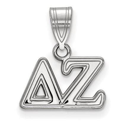 Picture of Delta Zeta Sorority Sterling Silver Medium Pendant