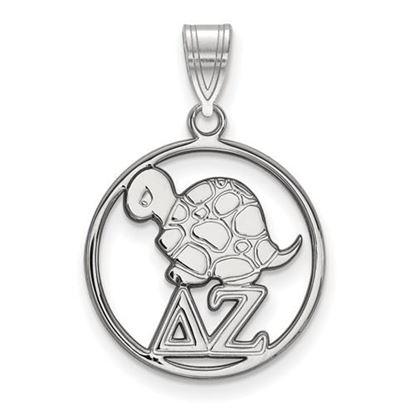 Picture of Delta Zeta Sorority Sterling Silver Small Circle Pendant