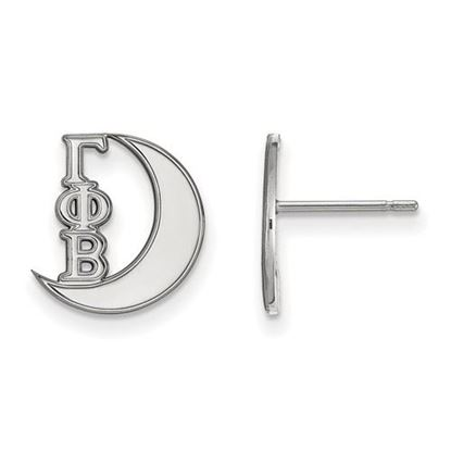 Picture of Gamma Phi Beta Sorority Sterling Silver Extra Small Post Earrings