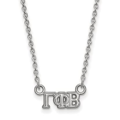 Picture of Gamma Phi Beta Sorority Sterling Silver Extra Small Pendant Necklace