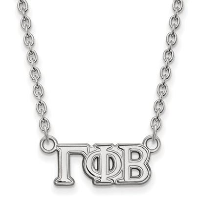 Picture of Gamma Phi Beta Sorority Sterling Silver Medium Pendant Necklace