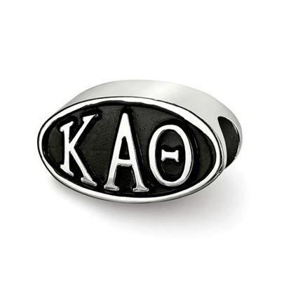 Picture of Kappa Alpha Theta Sorority Sterling Silver Oval Bead