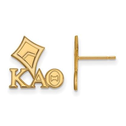 Picture of Kappa Alpha Theta Sorority Sterling Silver Gold Plated Extra Small Post Earrings