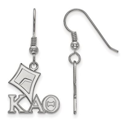 Picture of Kappa Alpha Theta Sorority Sterling Silver Small Dangle Earrings