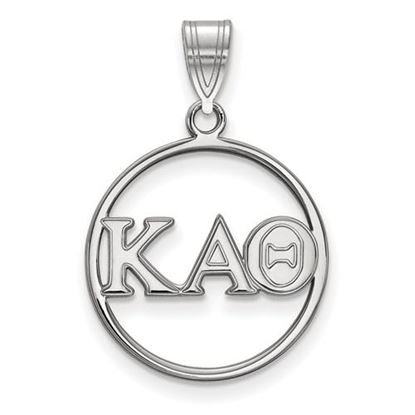Picture of Kappa Alpha Theta Sorority Sterling Silver Circle Pendant