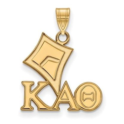 Picture of Kappa Alpha Theta Sorority Sterling Silver Gold Plated Small Pendant