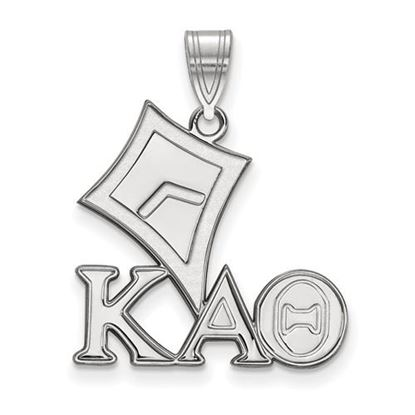 Picture of Kappa Alpha Theta Sorority Sterling Silver Medium Pendant