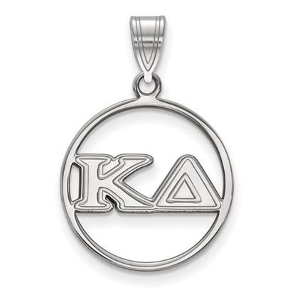 Picture of Kappa Delta Sorority Sterling Silver Circle Pendant
