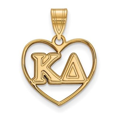 Picture of Kappa Delta Sorority Gold Plated Heart Pendant