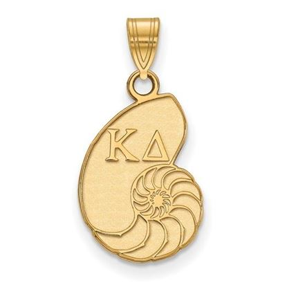 Picture of Kappa Delta Sorority Sterling Silver Gold Plated Small Pendant