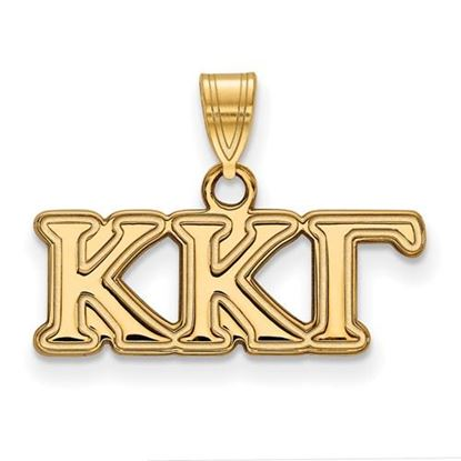 Picture of Kappa Kappa Gamma Sorority Sterling Silver Gold Plated Small Pendant