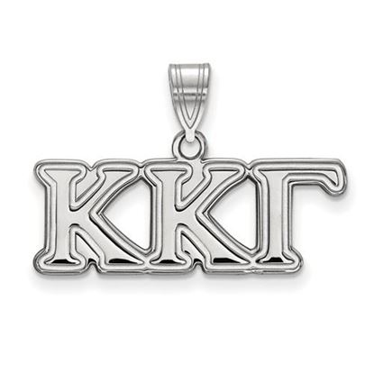 Picture of Kappa Kappa Gamma Sorority Sterling Silver Medium Pendant