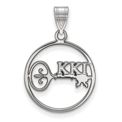 Picture of Kappa Kappa Gamma Sorority Sterling Silver Small Circle Pendant