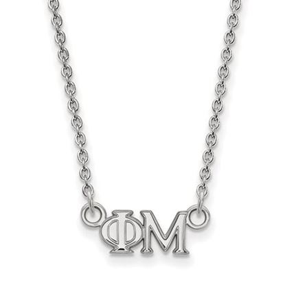 Picture of Phi Mu Sorority Sterling Silver Extra Small Pendant Necklace