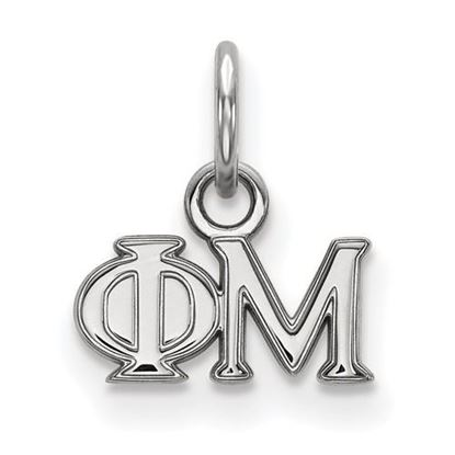 Picture of Phi Mu Sorority Sterling Silver Extra Small Pendant