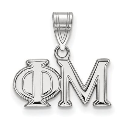 Picture of Phi Mu Sorority Sterling Silver Medium Pendant
