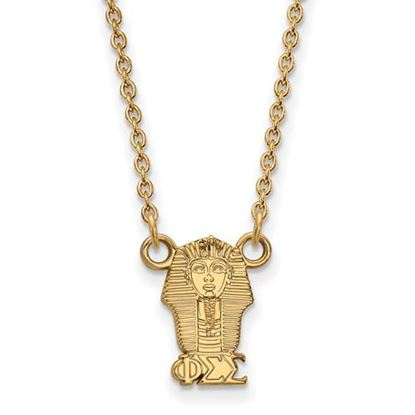 Picture of Phi Sigma Sigma Sorority Gold Plated Sphinx Pendant Necklace