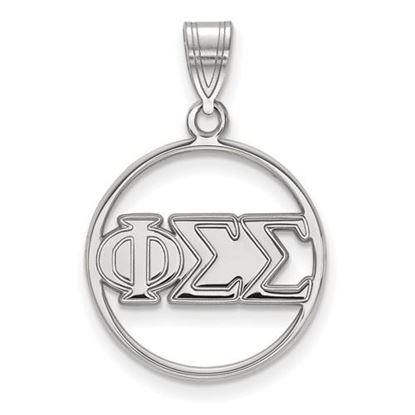 Picture of Phi Sigma Sigma Sorority Sterling Silver Circle Pendant