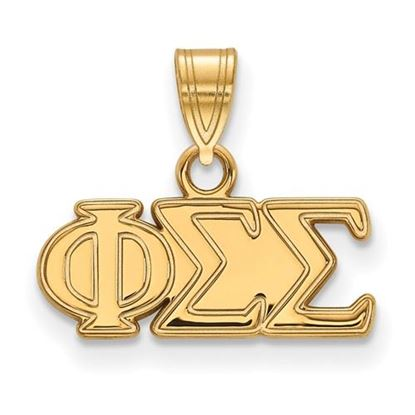 Picture of Phi Sigma Sigma Sorority Sterling Silver Gold Plated Small Pendant
