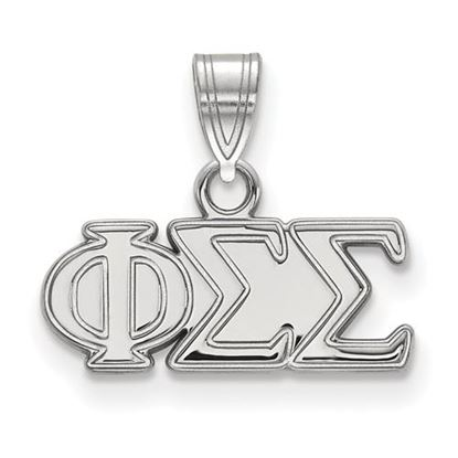 Picture of Phi Sigma Sigma Sorority Sterling Silver Small Pendant