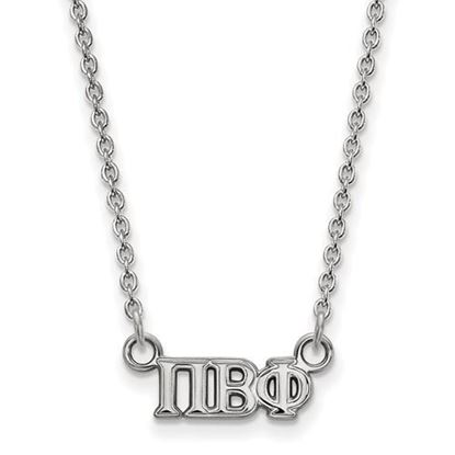 Picture of Pi Beta Phi Sorority Sterling Silver Extra Small Pendant Necklace