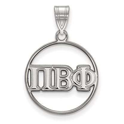 Picture of Pi Beta Phi Sorority Sterling Silver Circle Pendant