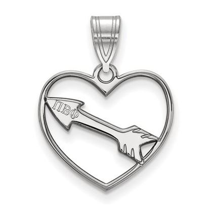 Picture of Pi Beta Phi Sorority Sterling Silver Heart Pendant