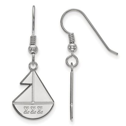 Picture of Sigma Sigma Sigma Sorority Sterling Silver Small Dangle Earrings