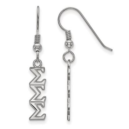 Picture of Sigma Sigma Sigma Sorority Sterling Silver Dangle Earrings