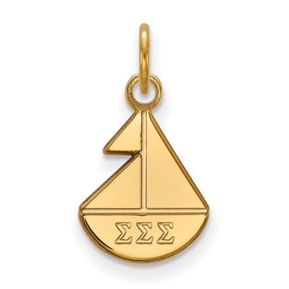 Picture of Sigma Sigma Sigma Sorority Sterling Silver Gold Plated Extra Small Pendant