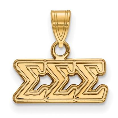 Picture of Sigma Sigma Sigma Sorority Sterling Silver Gold Plated Small Pendant