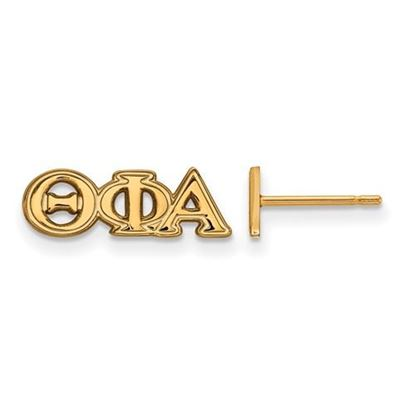 Picture of Theta Phi Alpha Sorority Sterling Silver Gold Plated Extra Small Post Earrings