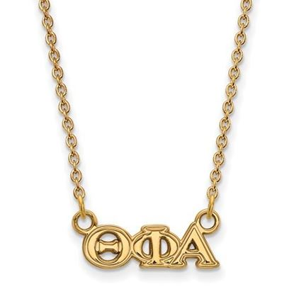 Picture of Theta Phi Alpha Sorority Sterling Silver Gold Plated Extra Small Pendant Necklace