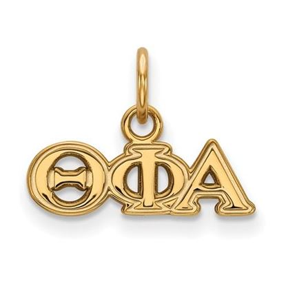 Picture of Theta Phi Alpha Sorority Sterling Silver Gold Plated Extra Small Pendant