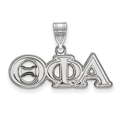 Picture of Theta Phi Alpha Sorority Sterling Silver Medium Pendant