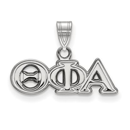 Picture of Theta Phi Alpha Sorority Sterling Silver Small Pendant