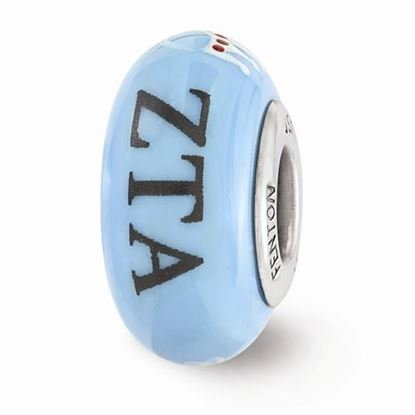 Picture of Zeta Tau Alpha Sorority Sterling Silver Glass Bead