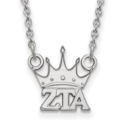 Picture of Zeta Tau Alpha Sorority Sterling Silver Extra Small Pendant Necklace