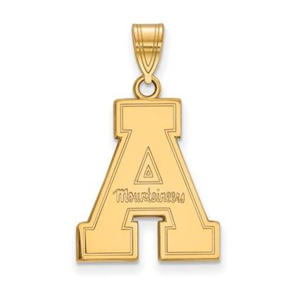 Picture of Appalachian State University Mountaineers Sterling Silver Gold Plated Large Pendant
