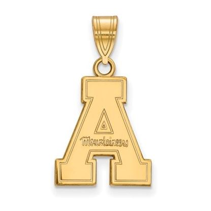 Picture of Appalachian State University Mountaineers Sterling Silver Gold Plated Medium Pendant