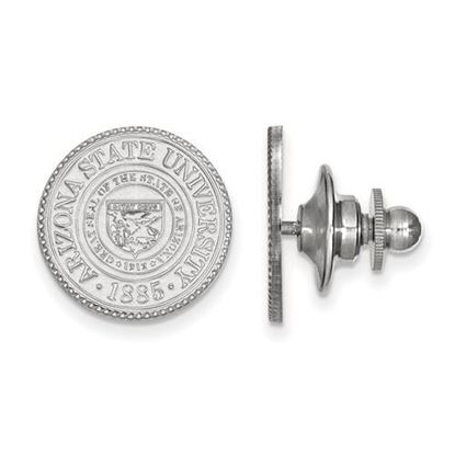 Picture of Arizona State University Sun Devils 14k White Gold Crest Lapel Pin