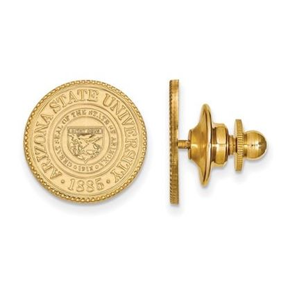 Picture of Arizona State University Sun Devils 14k Yellow Gold Crest Lapel Pin