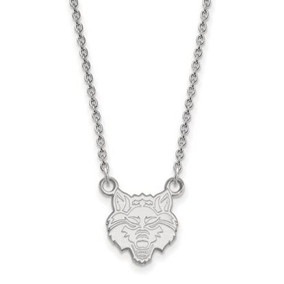 Picture of Arkansas State University Red Wolves 10k White Gold Small Necklace