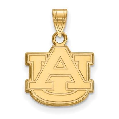 Picture of Auburn University Tigers Sterling Silver Gold Plated Small Pendant